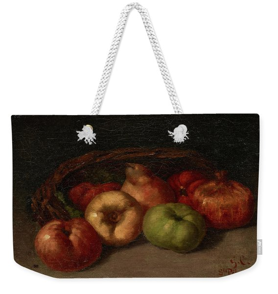Still Life With Apples, Pear, And Pomegranates Weekender Tote Bag