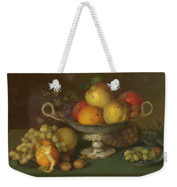 Still Life With Fruit, 1844 Weekender Tote Bag