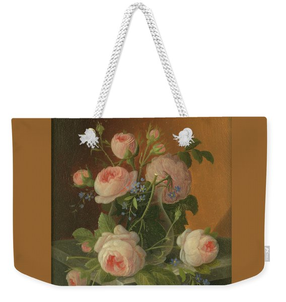 Still Life With Roses, Circa 1860 Weekender Tote Bag