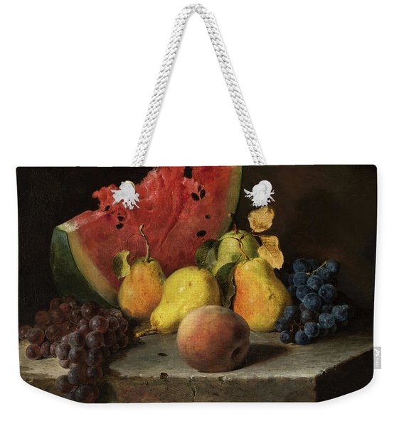 Still Life With Watermelon, Pears, Grapes Weekender Tote Bag