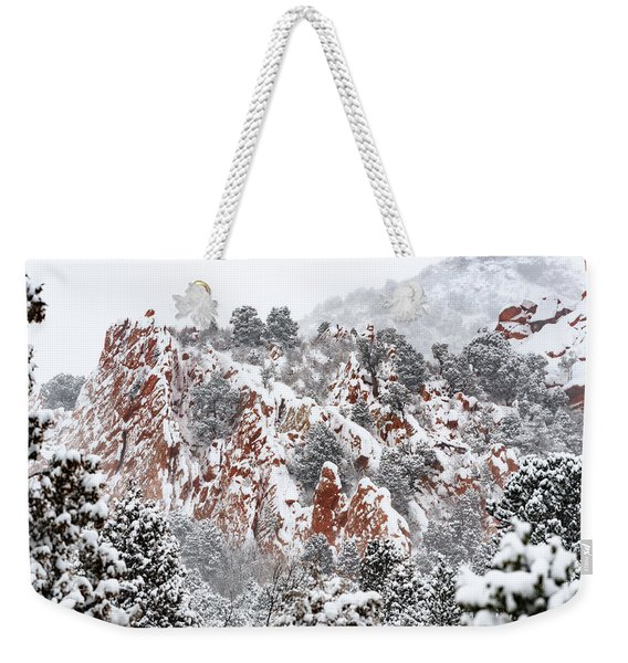 Stillness Of A Snow Covered Morning Weekender Tote Bag