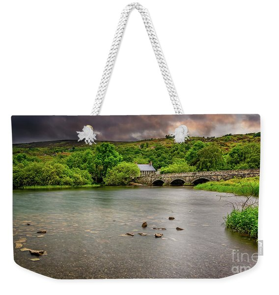 Stone Bridge Llanberis Wales Weekender Tote Bag