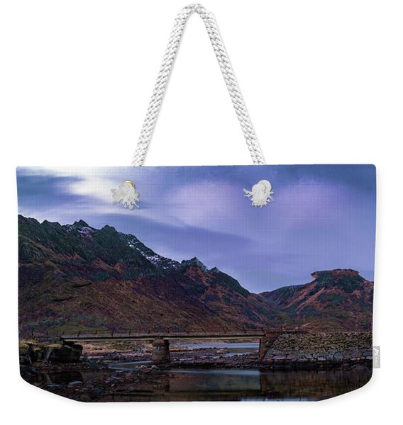 Stone Bridge On Lofoten Islands  Weekender Tote Bag