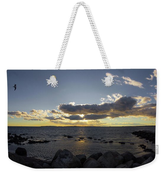 Stonington Point Cloudy Sunset 2019 Weekender Tote Bag