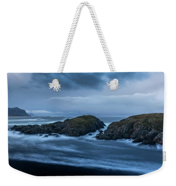 Storm At The Sea Weekender Tote Bag