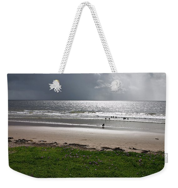 Storm Brewing Over The Sea Weekender Tote Bag