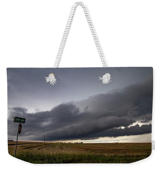 Weekender Tote Bag featuring the photograph Storm Chasin In Nader Alley 004 by NebraskaSC