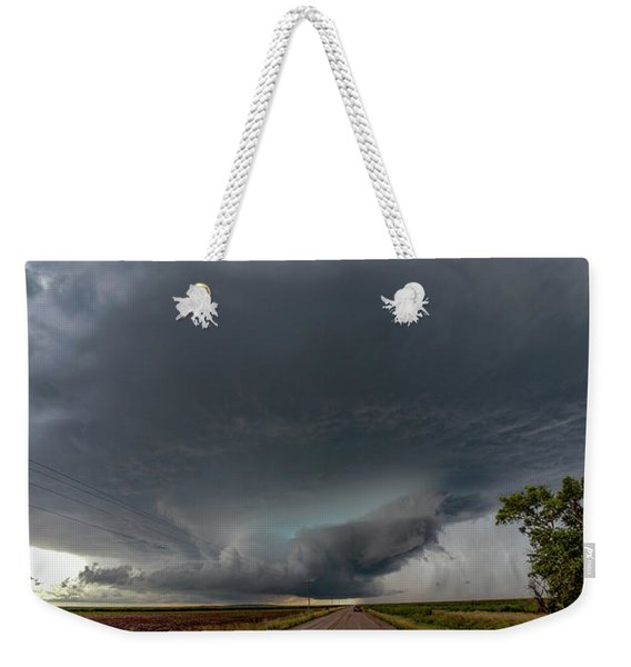 Weekender Tote Bag featuring the photograph Storm Chasin In Nader Alley 008 by NebraskaSC