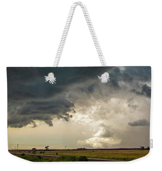 Weekender Tote Bag featuring the photograph Storm Chasin In Nader Alley 012 by NebraskaSC