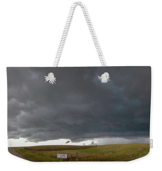 Weekender Tote Bag featuring the photograph Storm Chasin In Nader Alley 016 by NebraskaSC