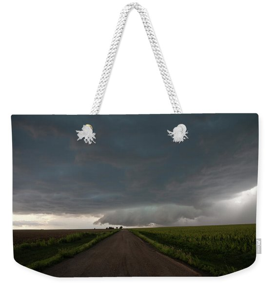 Weekender Tote Bag featuring the photograph Storm Chasin In Nader Alley 025 by NebraskaSC