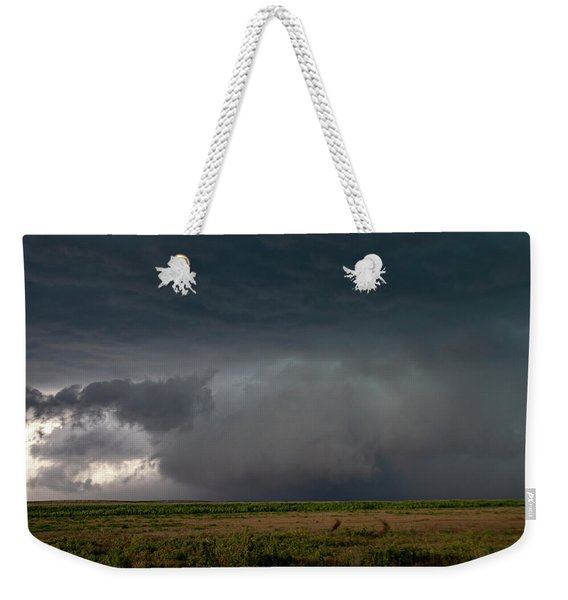 Weekender Tote Bag featuring the photograph Storm Chasin In Nader Alley 030 by NebraskaSC