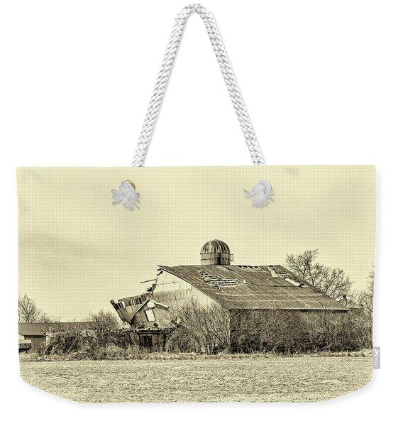 Storm Damage 3 Sepia Weekender Tote Bag