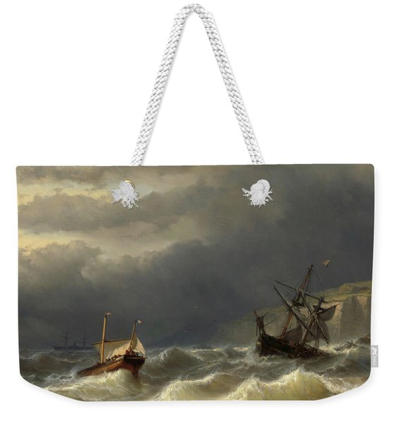 Storm In The Strait Of Dover Weekender Tote Bag