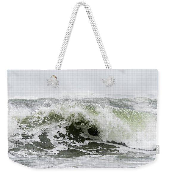 Storm Surf Spray Weekender Tote Bag