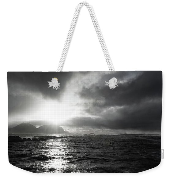 stormy coastline in northern Norway Weekender Tote Bag
