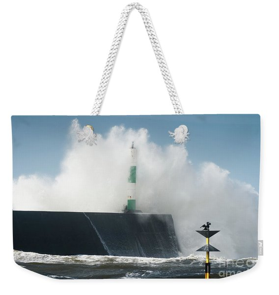 Stormy Sea And A Cormorant Weekender Tote Bag