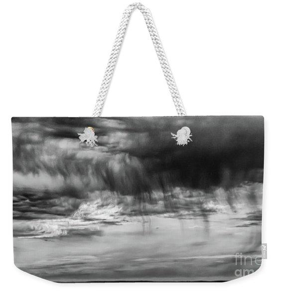 Stormy Sky In Black And White Weekender Tote Bag