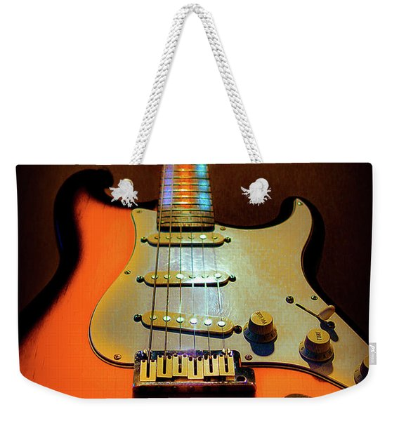 Stratocaster Triburst Glow Neck Series Weekender Tote Bag