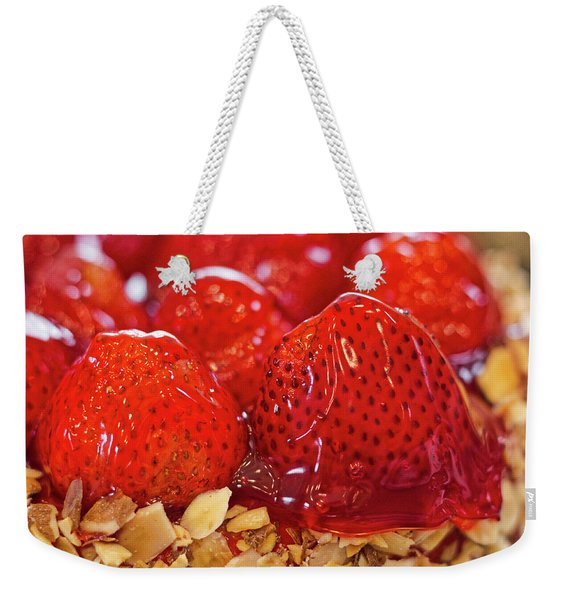 Strawberry Glaze Weekender Tote Bag