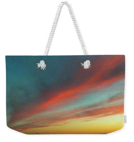 Streaming Sunset Weekender Tote Bag