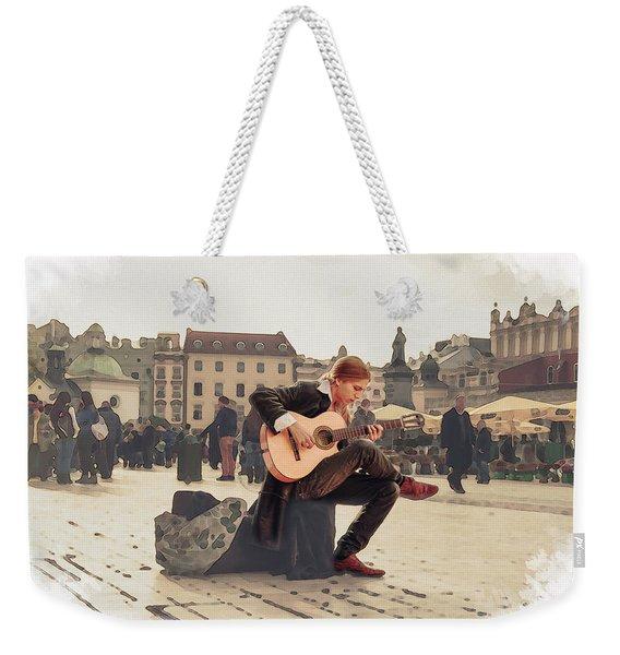 Street Music. Guitar. Weekender Tote Bag