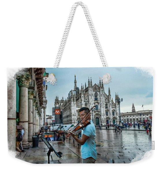 Street Music. Violin. Weekender Tote Bag