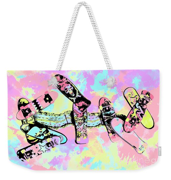 Street Sk8 Pop Art Weekender Tote Bag