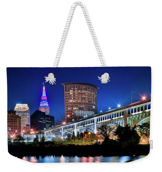 Stretching Out On A Colorful Night Weekender Tote Bag