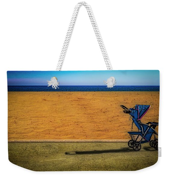 Stroller At The Beach Weekender Tote Bag