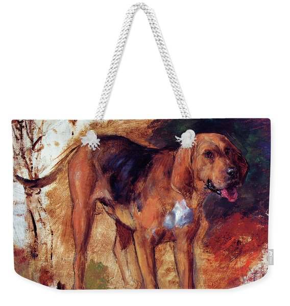 Study Of A Bloodhound - Digital Remastered Edition Weekender Tote Bag