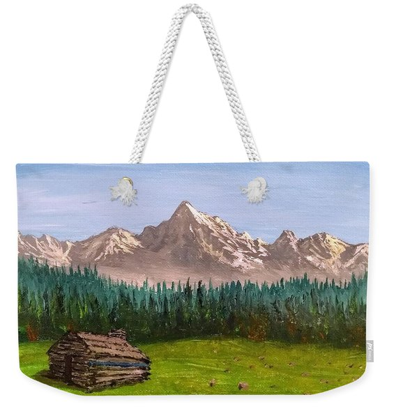 Weekender Tote Bag featuring the painting Stump by Kevin Daly