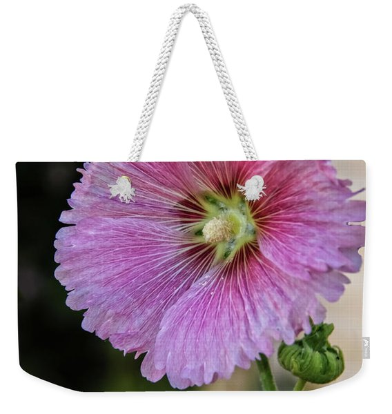 Stunning Pink Hollyhock Weekender Tote Bag