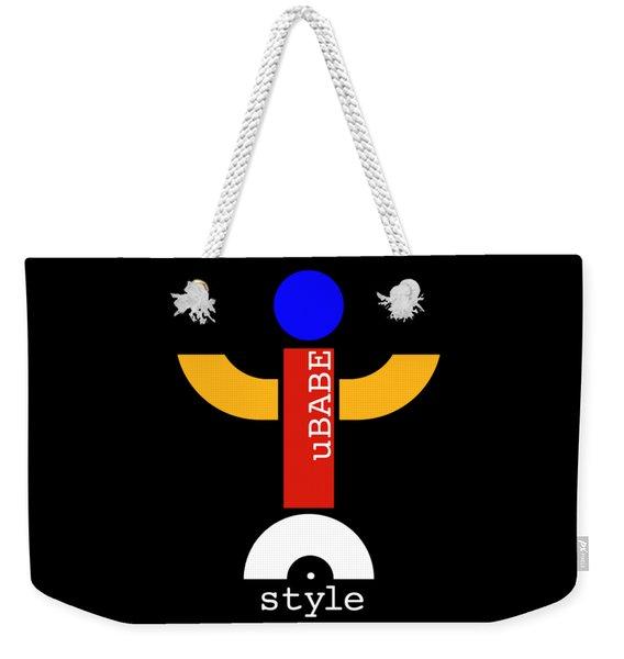 Style Black Weekender Tote Bag