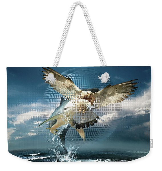 Subliminal Message Or  Optical Illusion Of Conscious Perception Weekender Tote Bag