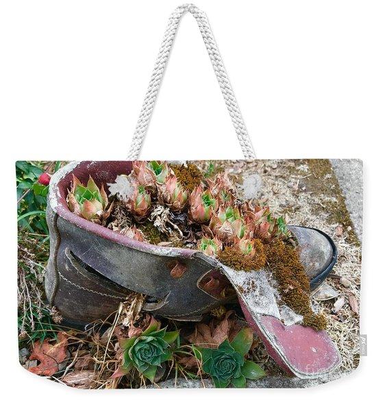 Succulents In A Boot Weekender Tote Bag