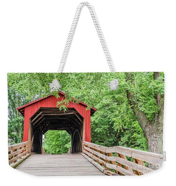 Sugar Creek Covered Bridge Weekender Tote Bag