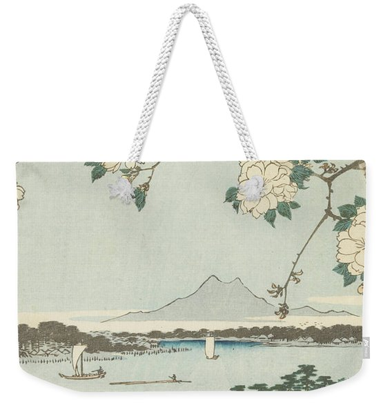 Suigin Grove And Masaki, On The Sumida River, 19th Century Weekender Tote Bag