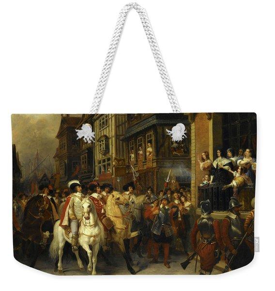 Sujet Tire De L'histoire De Cromwell,1649 Weekender Tote Bag