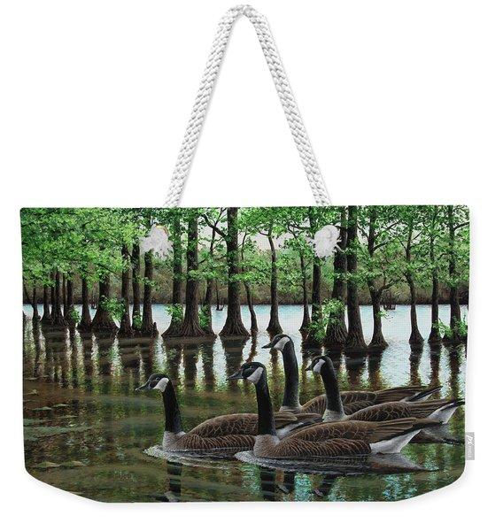 Summer Among The Cypress Weekender Tote Bag