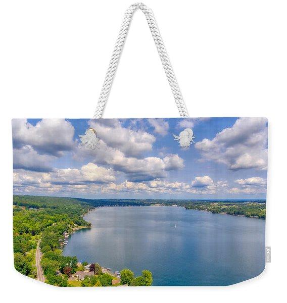 Summer Clouds On Keuka Lake Weekender Tote Bag
