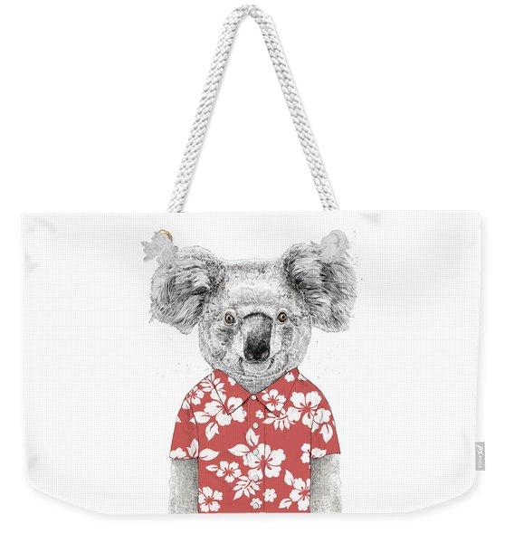 Summer Koala Weekender Tote Bag