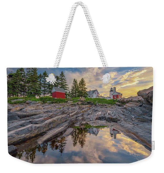 Summer Morning At Pemaquid Point Lighthouse Weekender Tote Bag