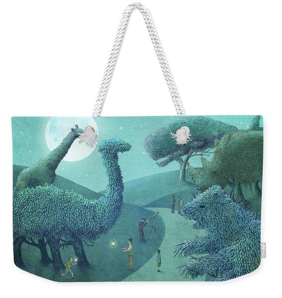 Summer Park - Night Weekender Tote Bag