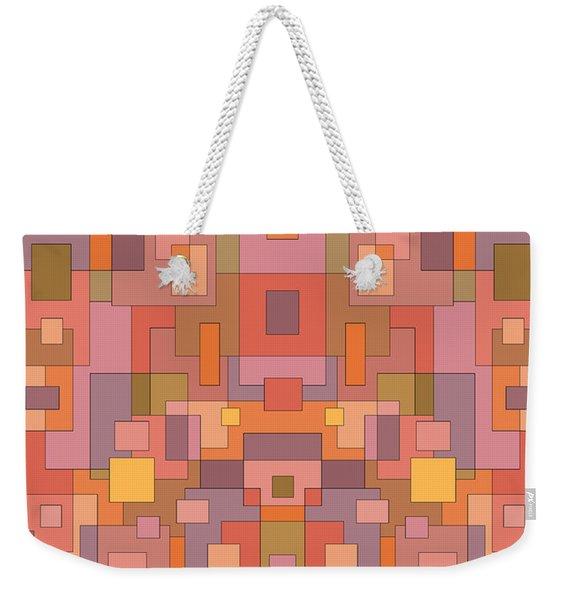 Summer Peach Abstract Weekender Tote Bag