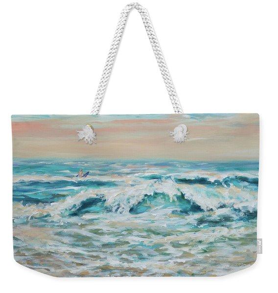 Summer Surf Weekender Tote Bag