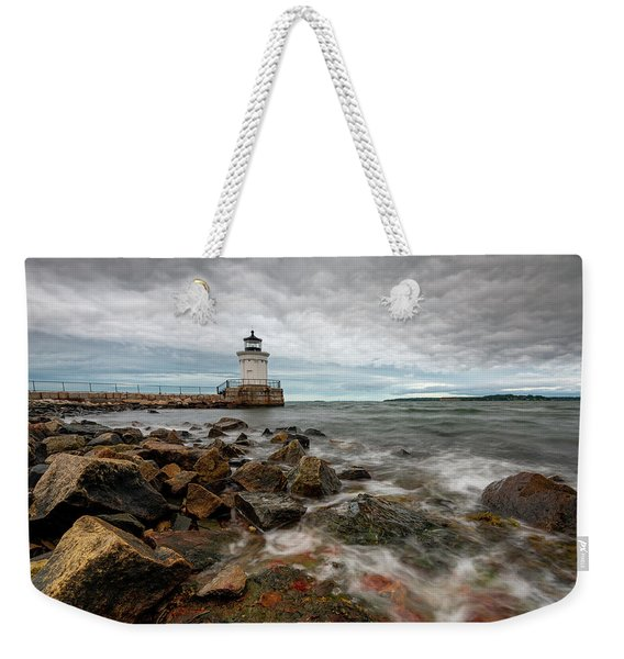 Summer Tides At Bug Light Weekender Tote Bag