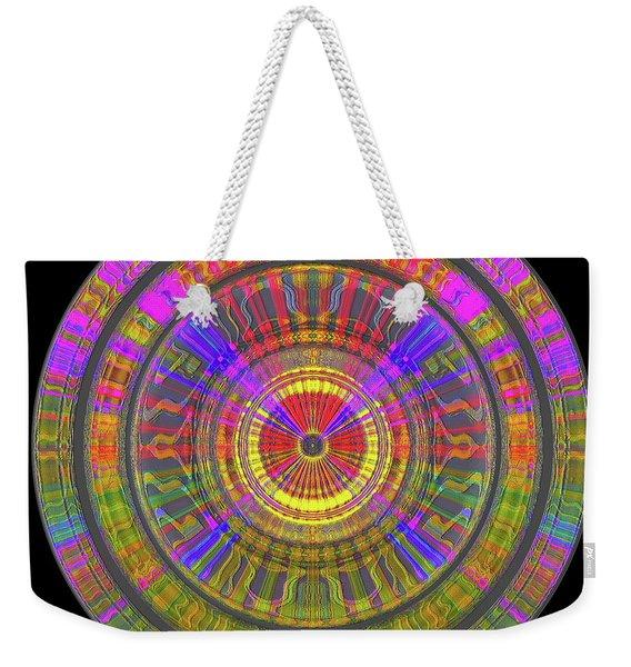 Weekender Tote Bag featuring the digital art Sun 02112019 by Visual Artist Frank Bonilla