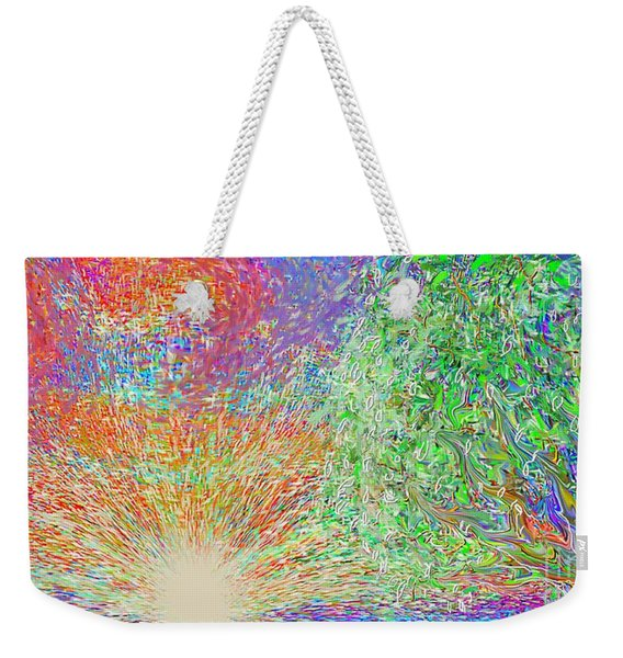 Sun Circles Earth Weekender Tote Bag