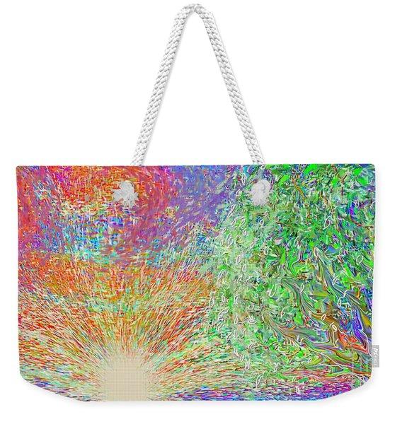 Sun Circles Earth Weekender Tote Bag